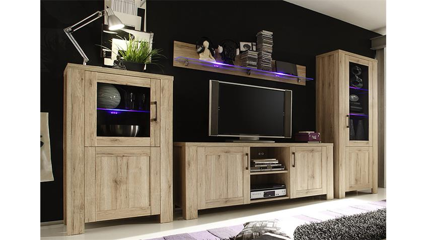 wohnwand ii lupo anbauwand in san remo eiche dekor. Black Bedroom Furniture Sets. Home Design Ideas