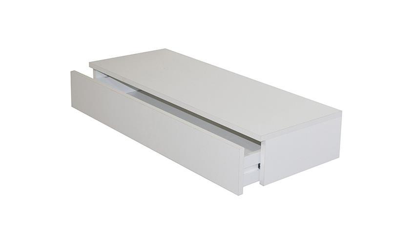 Wandregal COLOR Wandboard Schubkasten in weiß 80 cm
