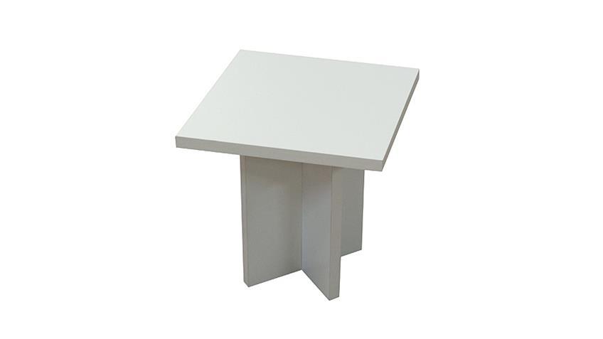 Beistelltisch COLOR TABLE Tisch Couchtisch weiß matt Dekor