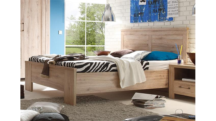 Bett LUPO Schlafzimmer in San Remo Eiche Dekor 140x200 cm