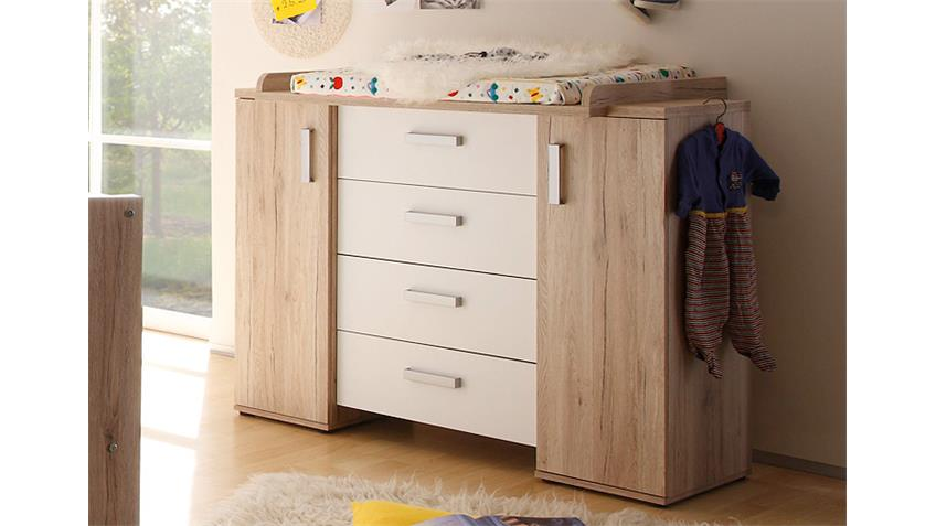 Babyzimmer-Set TWIN San Remo Eiche und Weiß