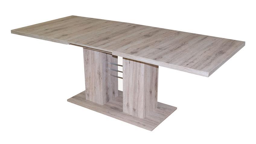 Esstisch PAULO Eiche Sanremo hell Tisch ausziehbar 140-180