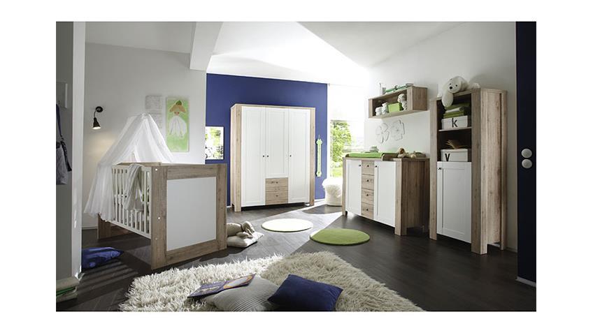 Babyzimmer LUPO Set in San Remo hell und weiß matt