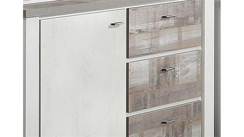 Sideboard GRANNY 2 in Eiche geweißt und Eiche Vintage