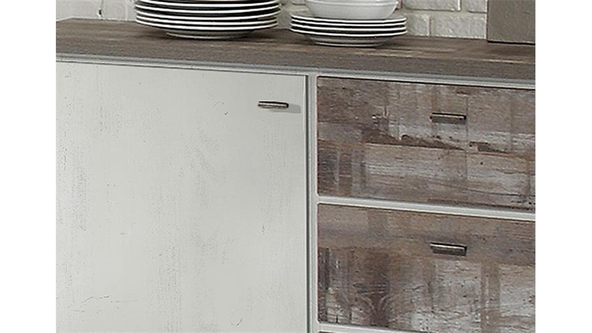 Sideboard GRANNY in Eiche geweißt und Eiche Vintage