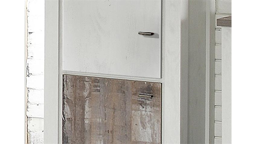 Schrank GRANNY in Eiche geweißt und Eiche Vintage B 71 cm