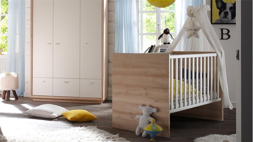 Babybett SVEN Edelbuche mit breiten Sprossen 140x70 cm