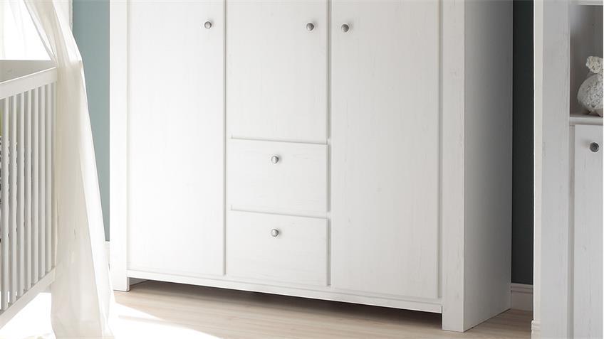 Kleiderschrank DANDY Anderson Pine weiß 3-trg. B 143 cm