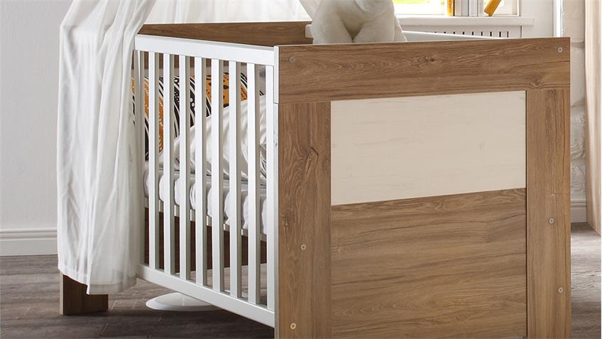 Babybett GRANNY Stirling Oak und Anderson Pine