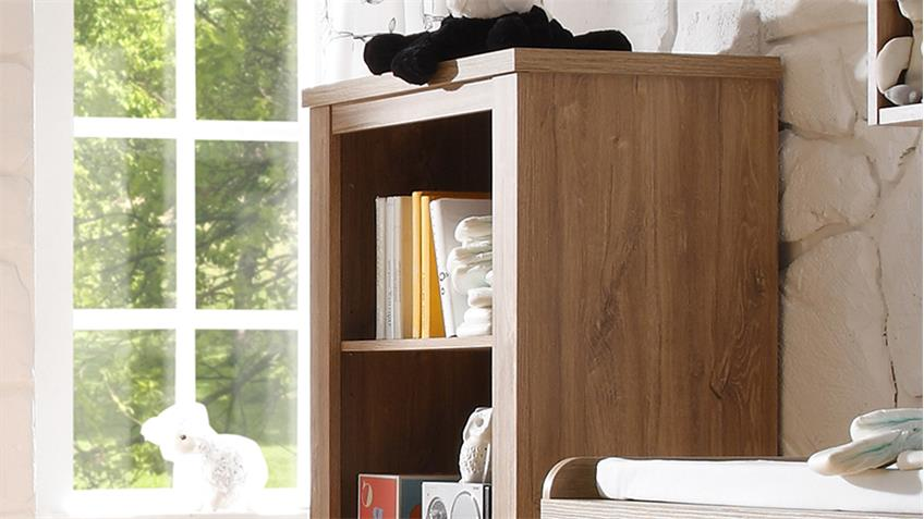 Beistellschrank GRANNY Regal in Stirling Oak & Anderson Pine