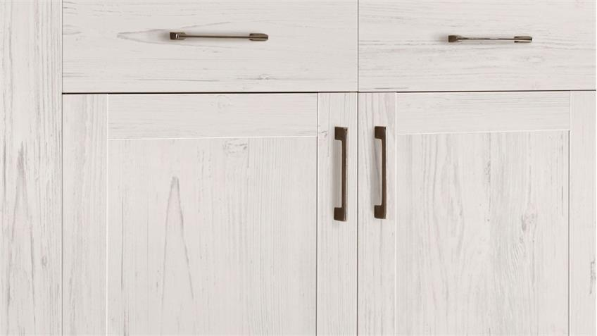 Highboard COUNTRY Kommode Anderson Pine & Eiche 2-trg