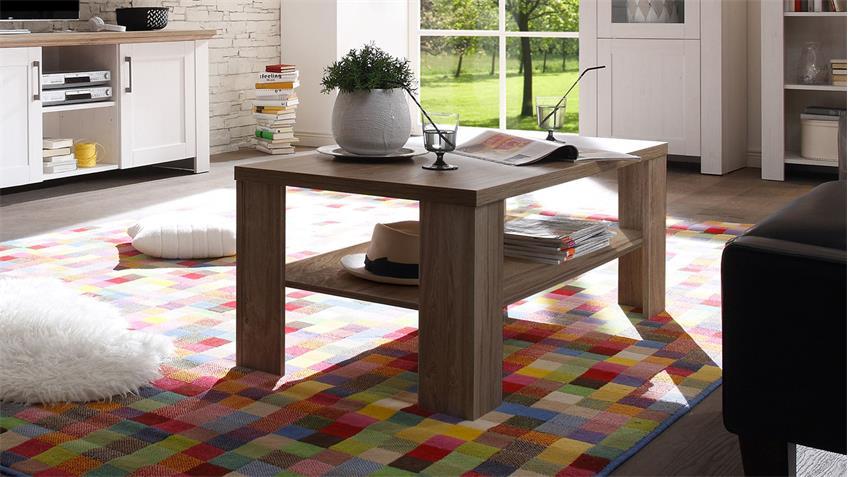 Couchtisch COUNTRY Stirling Eiche Tisch mit Fach 110x60 cm