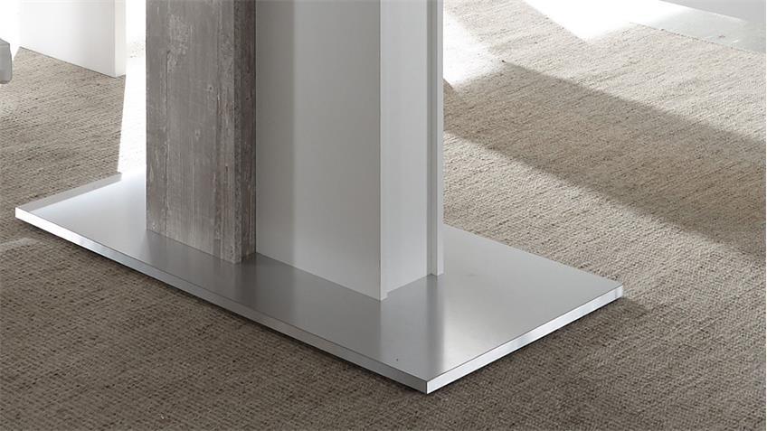 Esstisch JUMP Beton Dekor & weiß ausziehbar 160-210 cm