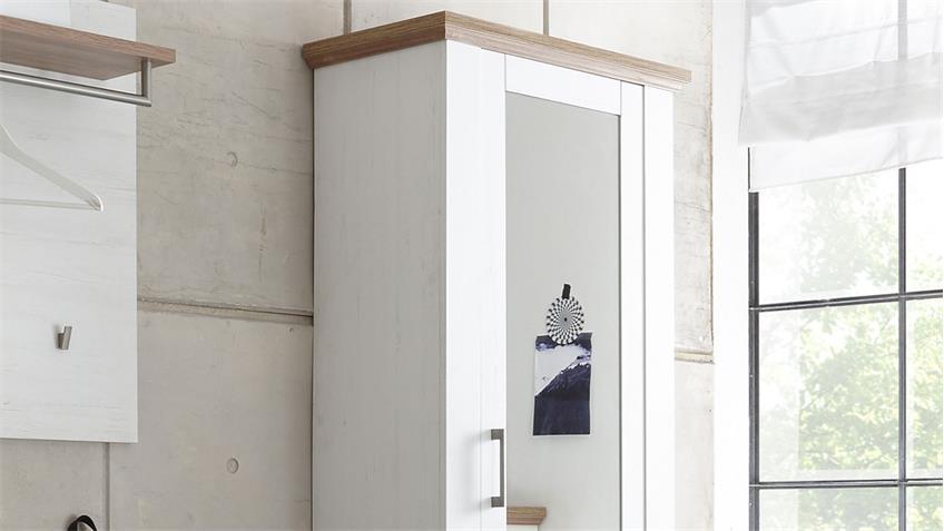 Garderobenschrank COUNTRY Anderson Pine mit Spiegel