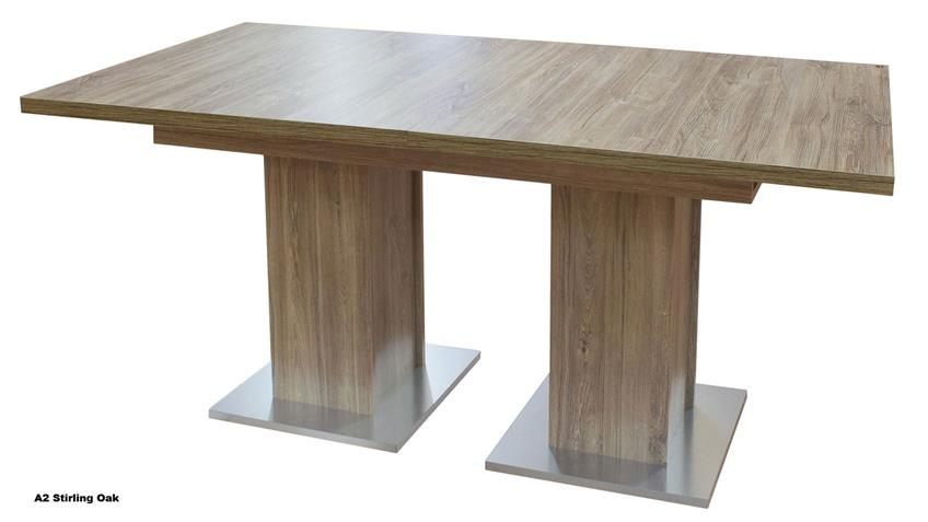 Esstisch TABLE DANCE A2 Eiche sägerau ausziehbar 160-210x90