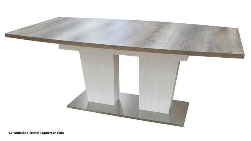Esstisch TABLE DANCE C6 Stirling Oak ausziehbar 160-210x90