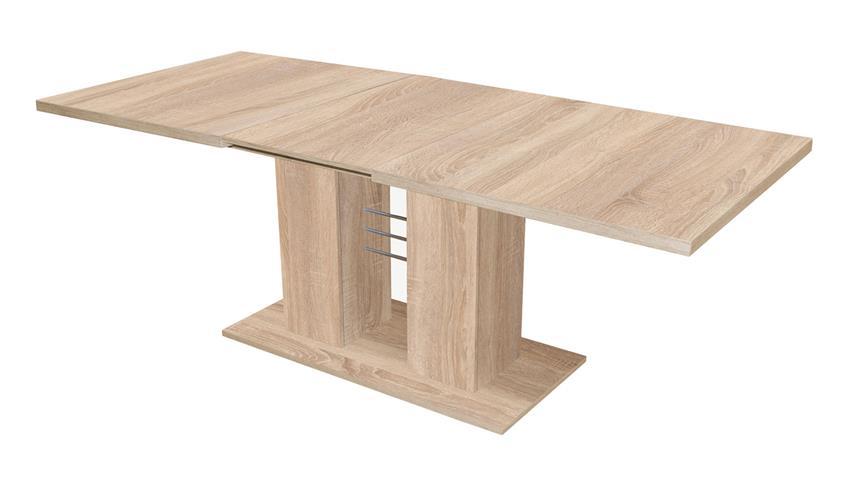 esstisch paulo eiche s gerau tisch ausziehbar 140 180. Black Bedroom Furniture Sets. Home Design Ideas