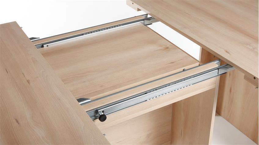 Esstisch BRASIL in Eiche sägerau Tisch ausziehbar 140-300 cm