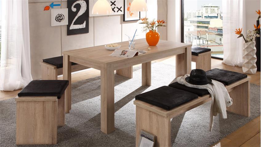 Esstisch PIT Küchentisch in Eiche sägerau Dekor 120x80 cm