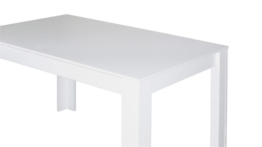 esstisch pit k chentisch tisch in wei matt 120x80 cm. Black Bedroom Furniture Sets. Home Design Ideas