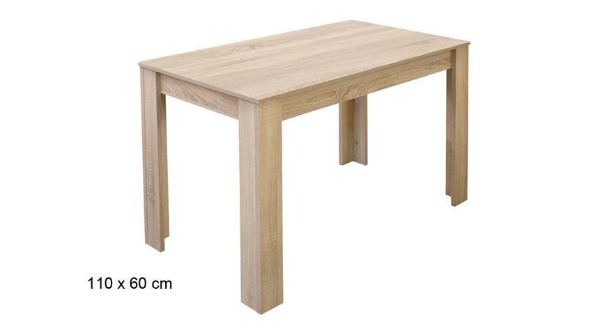 Esstisch PIT Küchentisch in Eiche sägerau Dekor 110x60 cm