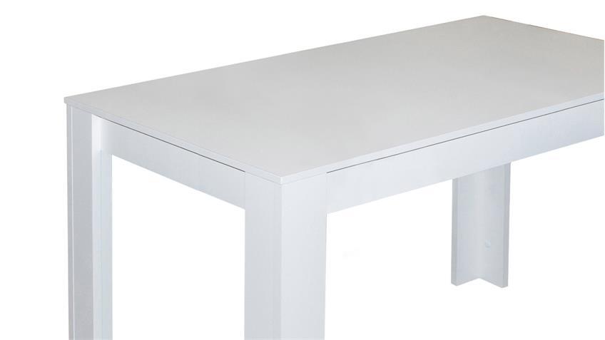Esstisch PIT Küchentisch Tisch in weiß matt 110x60 cm