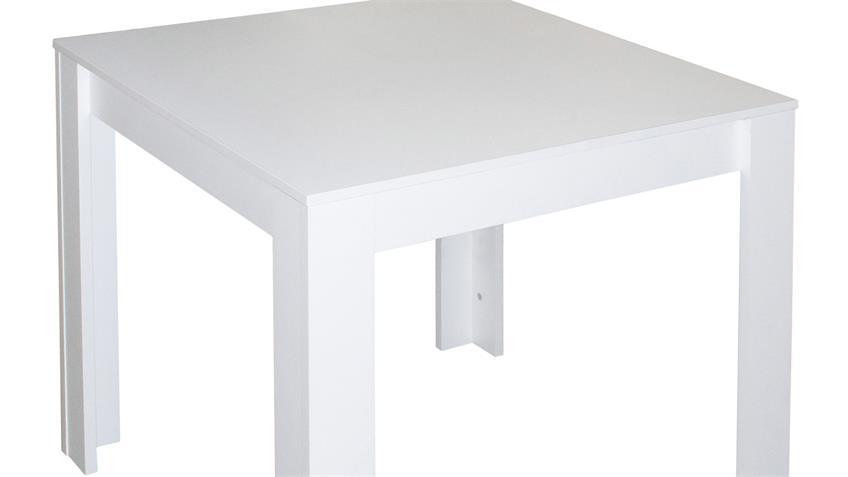 Esstisch PIT Küchentisch Tisch in weiß matt 80x80 cm