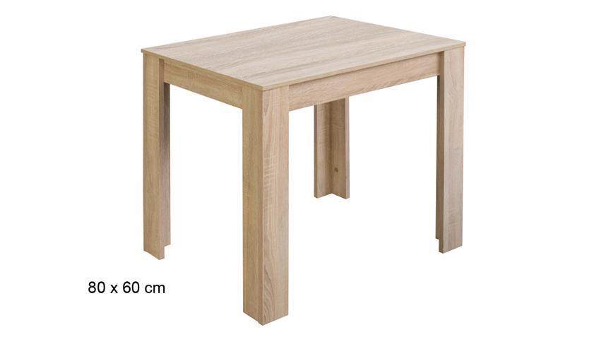 Esstisch PIT Küchentisch in Eiche sägerau Dekor 80x60 cm