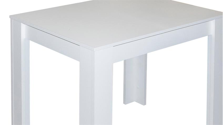 Esstisch PIT Küchentisch Tisch in weiß matt 80x60 cm