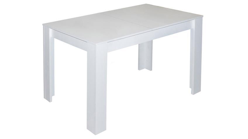 Esstisch BULL Küchentisch in weiß matt ausziehbar 110x60cm