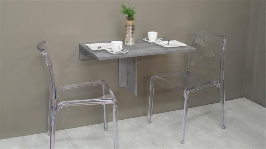 Klapptisch KLAPPI Wandtisch Beton Look Esstisch Tisch eckig