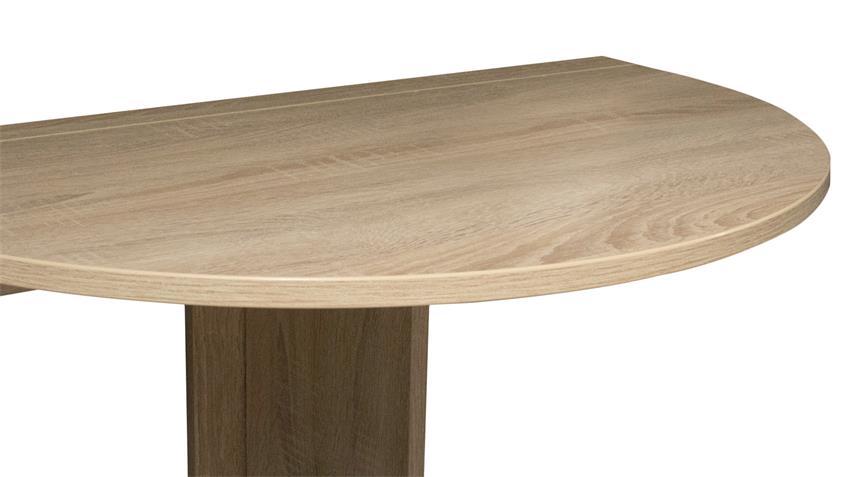 Klapptisch KLAPPI Wandtisch Eiche sägerau Küche Tisch rund