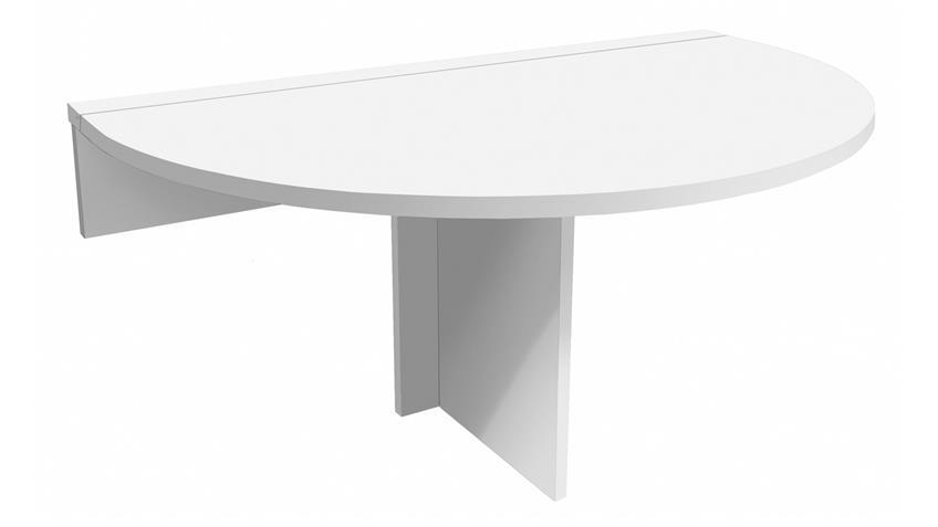 Klapptisch KLAPPI Wandtisch weiß matt Esstisch Tisch rund