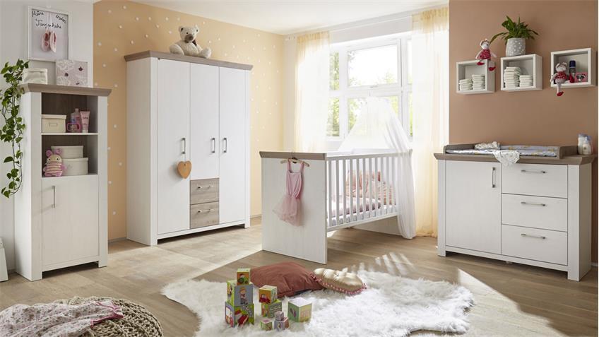 Babyzimmer NEW YORK 7tlg in Anderson Pine Nelson Eiche