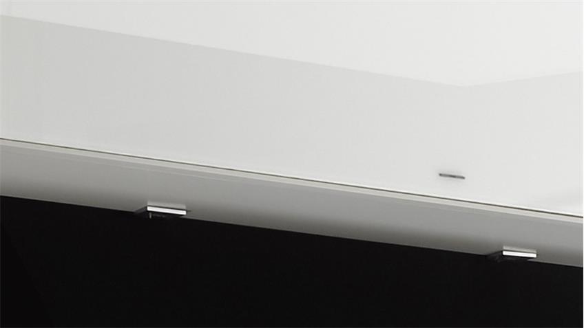 Hängeschrank Mix Box Glas weiß 175 cm individuell montierbar