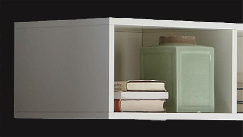 Hängeregal Mix Box in weiß matt lack 3 offene Fächer