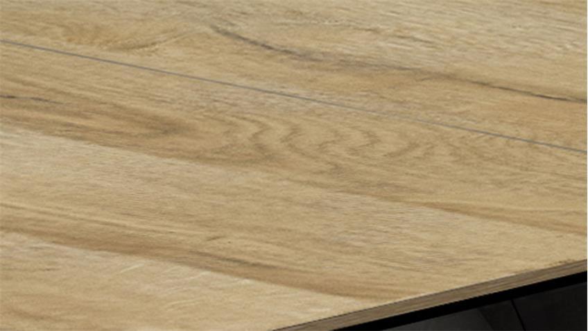 Esstisch Luzern in grandson oak graphit mit Synchron-Auszug
