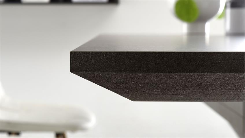 Esstisch Luzern in graphit Keramik dunkel 160 cm