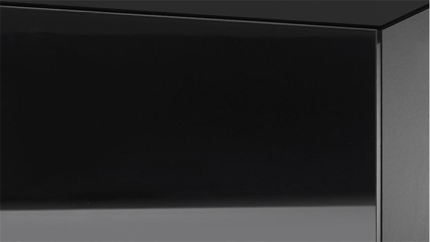 Nachtkommode Color in schwarz matt und Glas Kommode