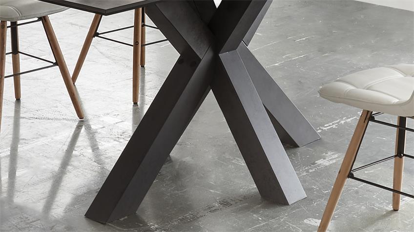 Esstisch THE BIG System Keramik dunkel graphit 180x90 cm