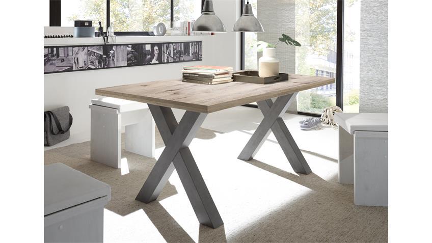 Esstisch MISTER X Tischsystem graphit sandeiche 160x90 cm