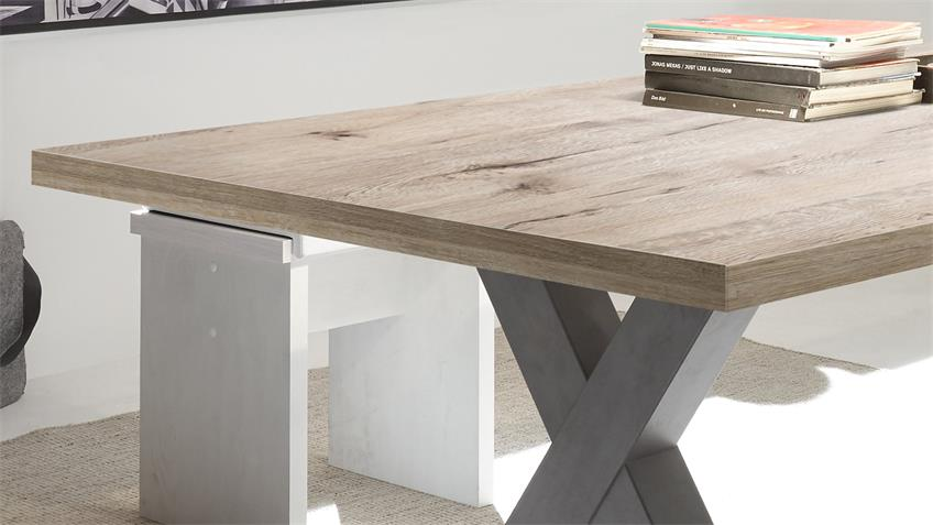 Esstisch MISTER X Tischsystem graphit sandeiche 200x100