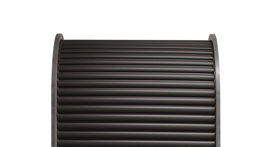 Schrank ROLLO graphit Büroschrank Regal Rolladenschrank