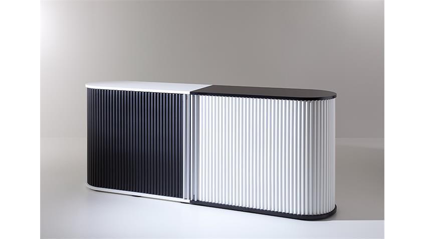 Rollladenschrank KLENK DANCER weiß und schwarz
