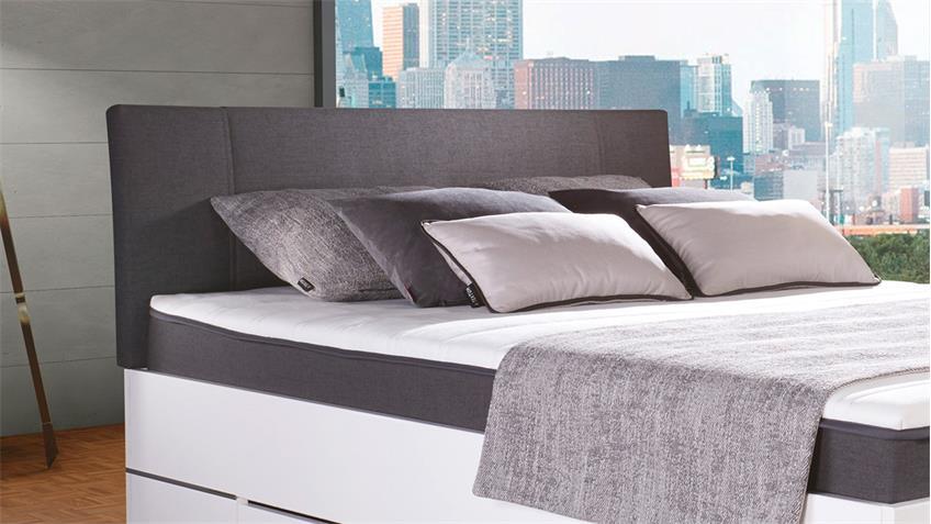 boxbett globe stoff anthrazit matraflex matratze topper. Black Bedroom Furniture Sets. Home Design Ideas