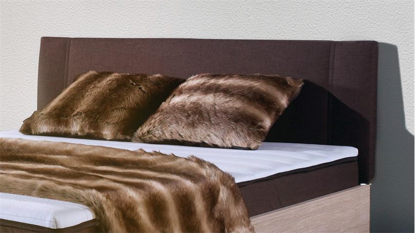 boxbett antox in sonoma eiche und braun bonell federkern 140x200 cm. Black Bedroom Furniture Sets. Home Design Ideas