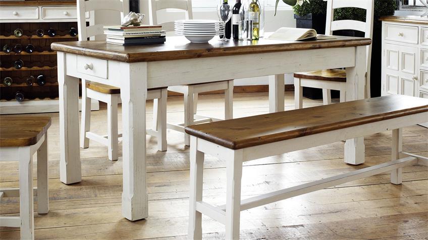 Tisch BODDE Kiefer massiv vintage used Look 180 cm Landhaus