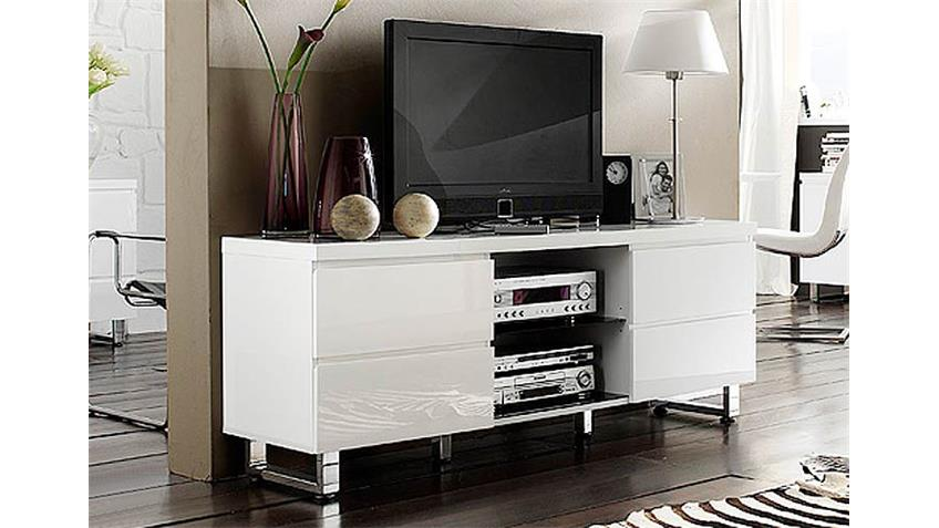 lowboard sydney i tv unterschrank in wei hochglanzlack. Black Bedroom Furniture Sets. Home Design Ideas
