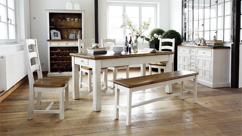 Tisch-Set BODDE Landhaus Kiefer massiv vintage used Look