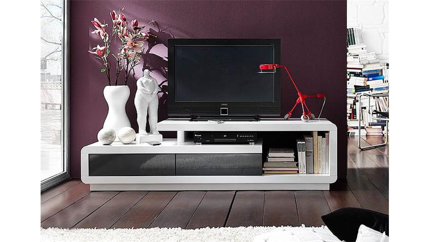 tv board celsor wei grau lack hochglanz. Black Bedroom Furniture Sets. Home Design Ideas